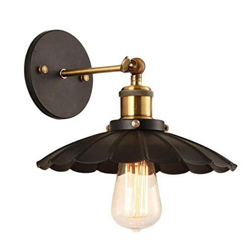 BuyBuyBuy Lampada Da Parete Industriale Vintage Umbrella Loft Lampada Da Parete Metal Black Lampada Da Parete Corpo-Light Braccio Regolabile, Nero, 25cm Scopri la luce