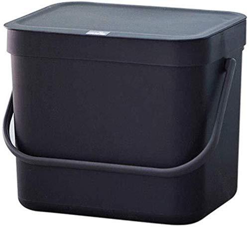 Hyzb Papelera - Mini Pared de plástico Caja con Tapa y Bote de Basura con la manija
