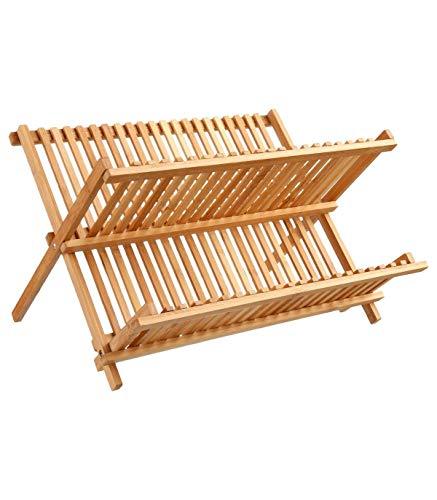Escurridor de platos de bambú