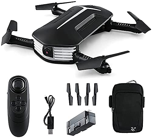 JJDSN Drone with Camera Foldable Drone FPV WiFi 120deg; Wide-Angle 720P HD Camera, Trajectory Flight, Altitude Hold, Headless Mode, Gravity Control, Intelligent Height Setting, for Children, Adult