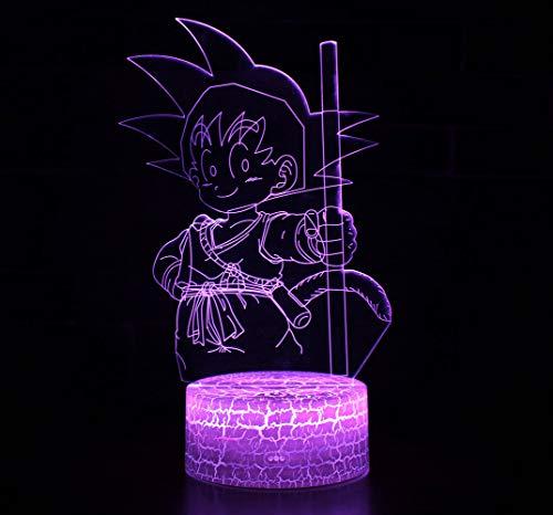 3D Lámpara óptico Illusions Luz Nocturna, CKW 7 Colores Cambio de Botón Táctil y Cable...