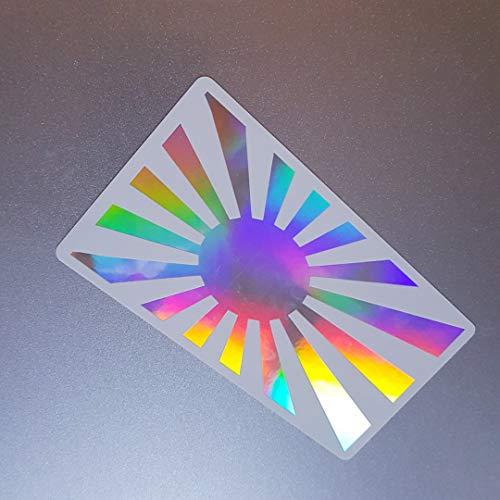 foliecentrum Japan vlag wit hologram olieslick regenboog flip flop sticker metallic effect shocker auto JDM tuning OEM Dub decal sticker Illest Dapper Oldschool