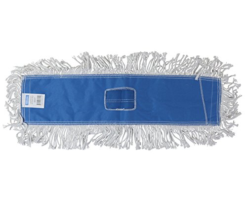 Tricol 38487 Launderable Replacement Dust Mop Head, Cotton, 5.5 x 24-Inch