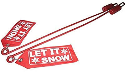 """New Snow Plow Blade Guide Fits Western Plow Blade Guide Kit W/red""""let It Snow"""" Flag 59700"""