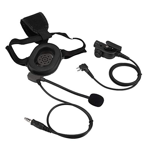 ASHATA Radio Headset, per Bowman PTT HD01 M Head Cuffia per Casco Monociclo per Motorola, Fascia Regolabile Cuffie di Sicurezza Cuffie Radio