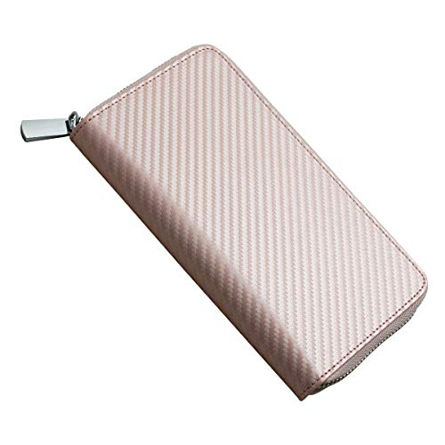 HIGH FIVE パルズ対応ケース PULZE対応 ケース カバー カーボンレザー 財布型 革 カード入れ 電子たばこ iD アイディー スティック 本体 全部収納 ホルダー ピンクゴールド