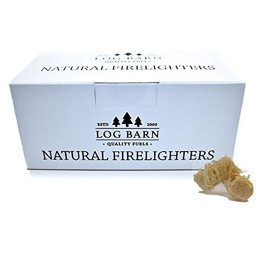 Encendedores de leña ecológicos naturales - 40 encendedores de fuego de llama...