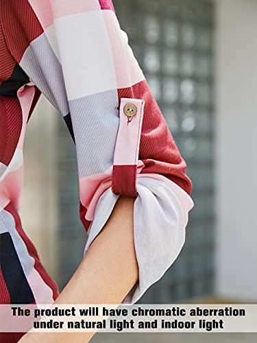 YOINS Blusa Mujer Manga Larga Camiseta Cuello V Camisa Elegante Túnica Casual SueltoTops Otoño Invierno