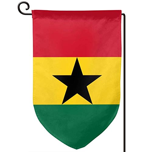 ONGH Bandiera del Ghana 12,5 x 18 Pollici Bandiera Giardino Impermeabile a Doppia Faccia Cortile Decorativo Esterno