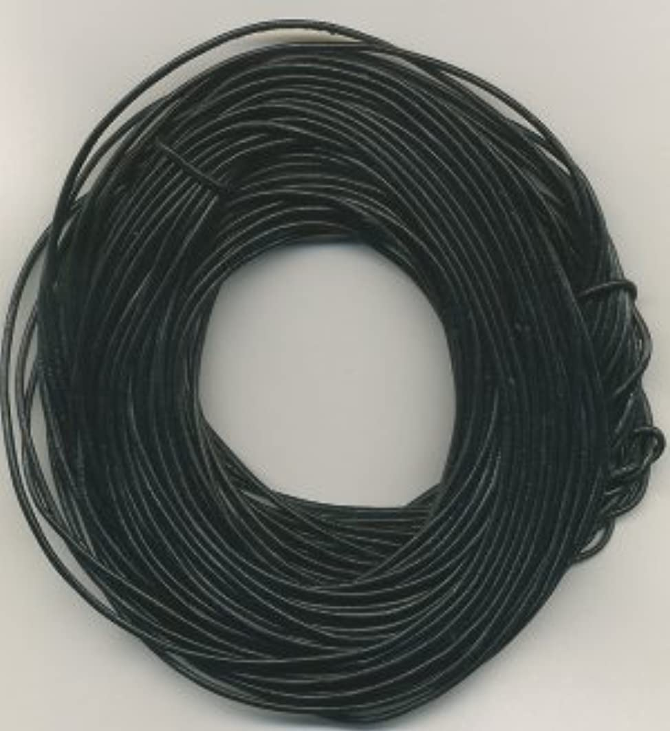 1.8 mm Black Leather Cord, 50 Meter Hank (55 Yards)