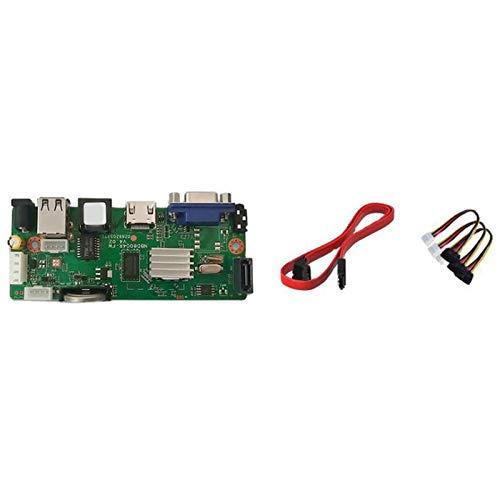 Gfhrisyty 9CHx5MP ONVIF H.265 Soporte de Placa 1 SATa NVR Grabador de Video Digital en Red MAX 8TB XMEYE CMS con Cable SATa P2P Cloud