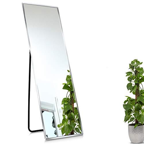 1000 MIRROWS® Standspiegel mit Facettenschliff | 140 x 45 cm | Ganzkörperspiegel Wandspiegel Groß & Modern