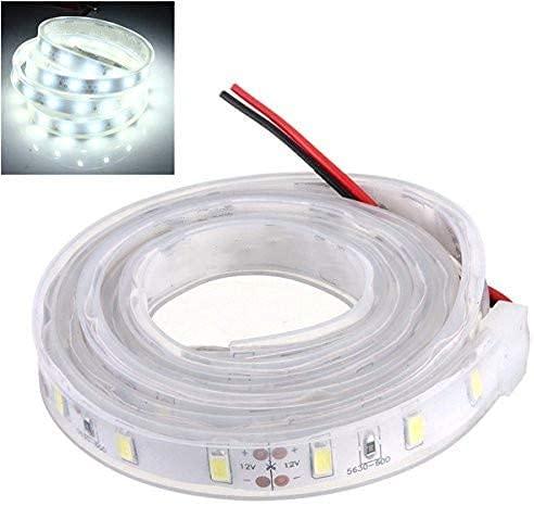 LED Streifen 12V Wasserdicht mit Kabel Selbstklebend 5050 SMD Auswahlmöglichkeit 10-100cm und 7 Farben (Kalt-Weiß, 100cm)