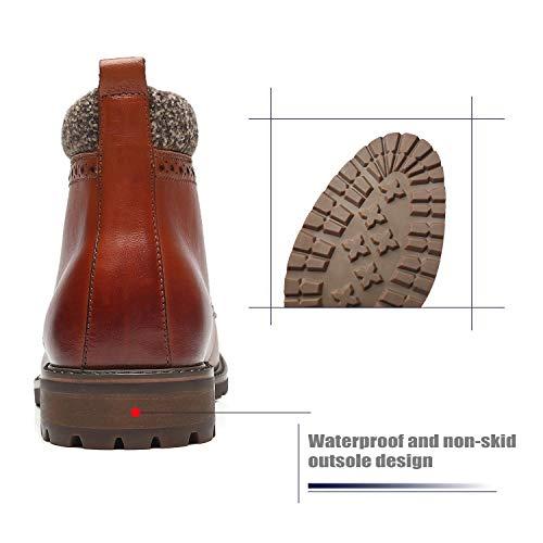 La Milano Mens Dress Boots Cap Toe Lace up Leather Winter Oxford Casual