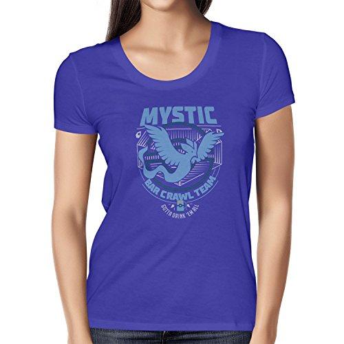 NERDO - Bar Crawl Team Mystic - Damen T-Shirt, Größe M, Marine