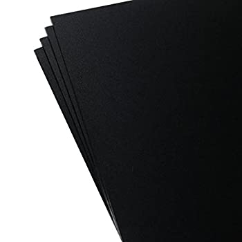 Plastics 2000 - KYDEX Sheet - 0.080  Thick Black 12  x 12  4 Pack