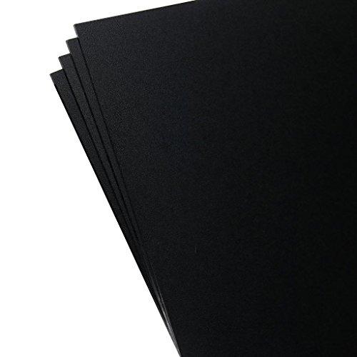 Plastics 2000 - KYDEX Sheet - 0.080 Thick, Black, 12 x 12, 4 Pack