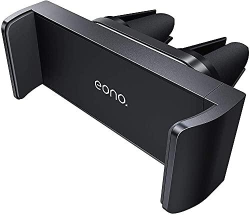 Amazon Brand - Eono Soporte Móvil Coche Ventilación - Soporte Teléfono Porta Rejillas del Aire Universal 360 Grados Rotación para iPhone 12 11 Pro XS MAX XR X 8, Huawei, Galaxy S10 S9 - Negro