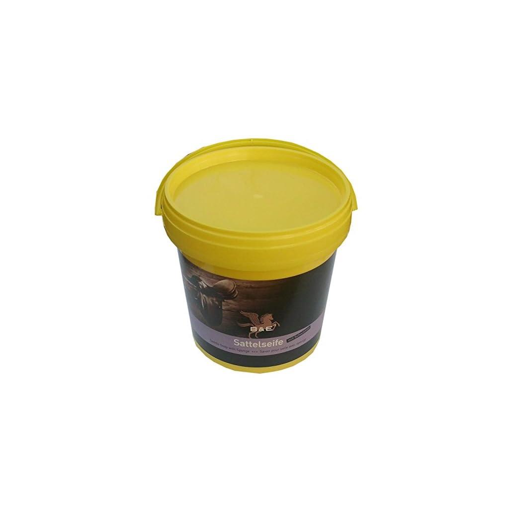Bense-u-Eicke-B-E-Sattelseife-mit-Schwamm-1000-ml-reinigt-pflegt-konserviert-Lederseife-Lederreinigung-Saddle-Soap-Savon-Pour-Selle-Avec-eponge
