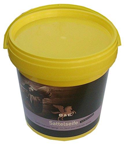B & E Sattelseife mit Schwamm, 1000 ml reinigt pflegt konserviert | Lederseife Lederreinigung |Saddle Soap | Savon Pour Selle Avec eponge