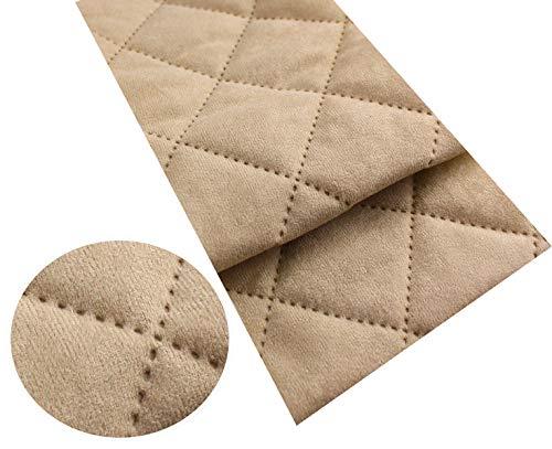 Microfibra Alka Imitat Trapuntato Tessuto per mobili Tessuto al Metro Tessuto Imbottito camoscio 50 x 150 cm