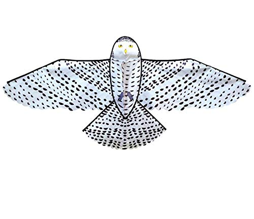 Decor Riesiger schneebedeckter Eulendrachen für Kinder und Erwachsene, einzelne 3D-Kite, einfach zu fliegen für Jungen und Mädchen im Freien