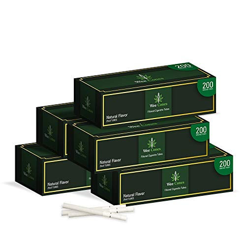 WeeWorld Filtered Cigarette Tubes - 1000 Count Pre-Rolled Tubes - Premium Quality Regular Tubes for Roll Your Own Cigarettes Injector Compatible (Natural, 1000 Pack)