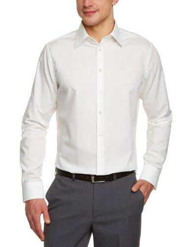 Seidensticker Herren Tailored Fit Businesshemd, Beige (Ecru 21), 38