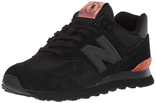 New Balance Men's Iconic 574 NYC Marathon Sneaker, Black, 9 D US