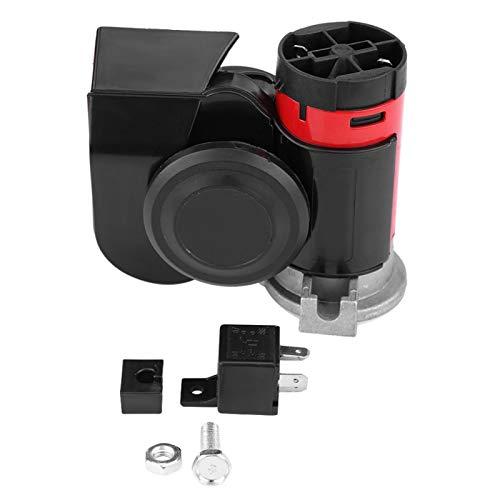 aqxreight - Bocina de aire electrónica, 12V 139DB Caracol electrónico ruidoso Bocina de aire dual ultra compacta para motocicleta, yate, barco