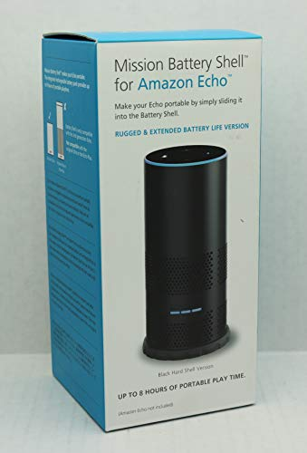 Mission Carcasa con batería para Amazon Echo de 2.ª generación, haz que tu Echo sea portátil, Negro