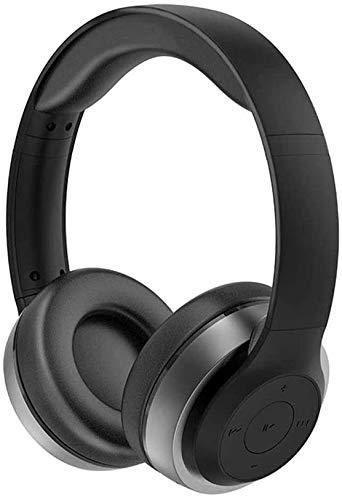 NCRD Auriculares inalámbricos en la Oreja - Bluetooth, micrófono Incorporado, subwoofer HiFi, para Viajes/Trabajo/TV/computadora/teléfono móvil - Negro (Color : Gray)