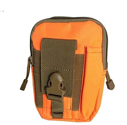 Poches tactiques ventilateur militaire poches de sport en plein air poches de téléphone portable poches étanches hommes pour les sports de plein air (orange)