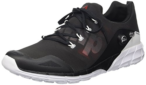 Reebok Zpump Fusion 2.0, Chaussures de Running Homme, Noir Coal Black Alloy White Atomic Red, 45 EU