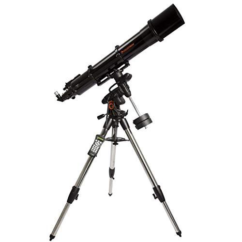 GGPUS Recolección de luz 459 X, telescopio, Alcance de Viaje, telescopio astronómico con trípode y buscador, telescopio portátil, Longitud Focal de 1200 mm con Soporte ecuatorial