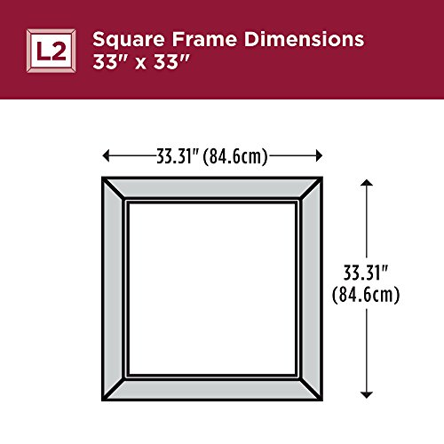 Delta Wall Mount 33 in. x 33 in. Large (L2) Square Framed Flush Mounting Bathroom Mirror in Matte White with Standard Glass