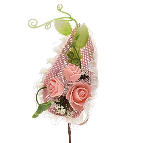 Rose Perfeclan Rouleau de Ruban en Raphia Papier