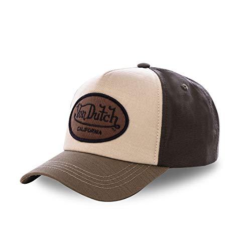 Von Dutch Gorra verde y marrón béisbol Custom Jack – Hombre marrón Talla única