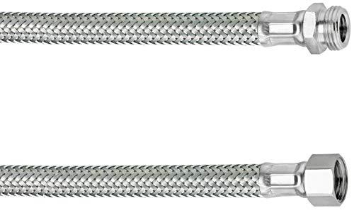 Cornat Flexibler Verbindungsschlauch (300 mm Länge - 3/8 Zoll IG, 1/2 Zoll AG - Hochwertige Edelstahl-Umflechtung / Anschlussschlauch für Wasserhahn / Armaturenschlauch / Flexschlauch) T3173113270