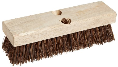 Weiler 44026 10' Block Size, 6 X 18 No. Of Rows, Palmyra Fill, Wood Block, Deck Scrub Brush
