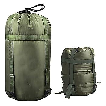 Yundxi 10L Sac de Compression en Nylon imperméable, Rangement Léger Portable et Étanche pour vêtements, Sac de Couchage, oreillers, déplacement, Camping en Plein air (Armée Verte)