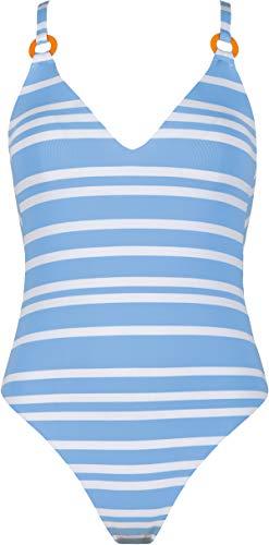 Joop! , Damen Badeanzug mit Einlagen ohne Bügel, 613008 (38A, hellblau weiß (023))