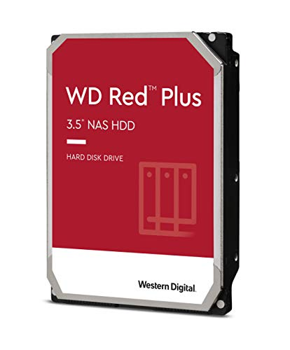 Western Digital 6TB WD Red Plus NAS Internal Hard Drive - 5400 RPM Class, SATA 6 Gb/s, CMR, 64 MB Cache, 3.5u0022 - WD60EFRX
