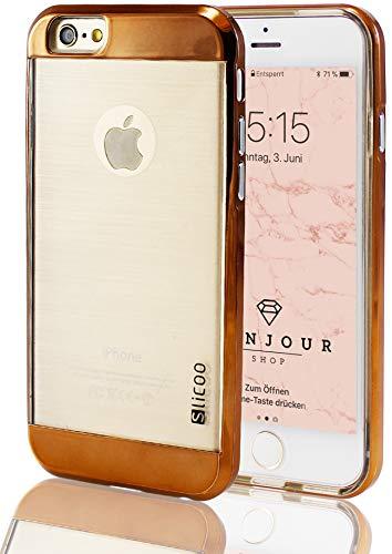 iPhone 66S Plus + Samsung Galaxy Note 45A8S6Edge Slicoo Hybrid Clear Cellulare Custodia protettiva Bumper Cover Hard Cover case in policarbonato e cornice trasparente TPU Silicone in Pink Bronzo Gold, antracite, argento bianco