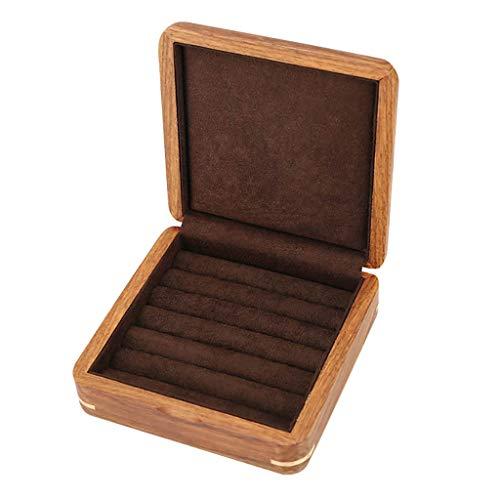 RTTssa schmuckkästchen Reine Massivholz Manschettenknöpfe Box Schmuck Ring Box Aufbewahrungsbox Ohrringe Ring Schmuckschatulle schmuckkasten (Farbe : B)