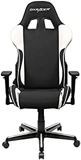 DXRacer OH/FH11/NW Formula Series Black and White Gaming Chair - Includes 2 Free Cushions