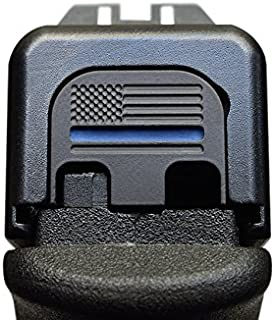 MILSPIN Thin Blue Line Stainless Steel Glock Slide Plate