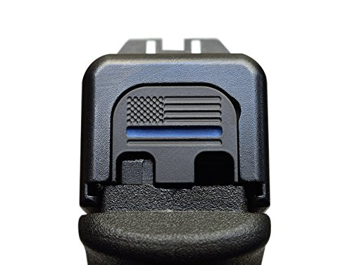 Best Prices! MILSPIN Thin Blue Line Stainless Steel Glock Slide Plate