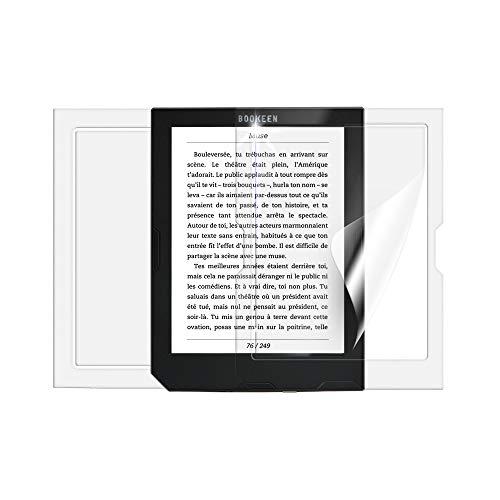 Screenshield Pellicola Protettiva per BOOKEEN Cybook Muse FrontLight 2 [2 Pezzi] – Copertura Completa del Display e del Retro; Senza Vetro temperato