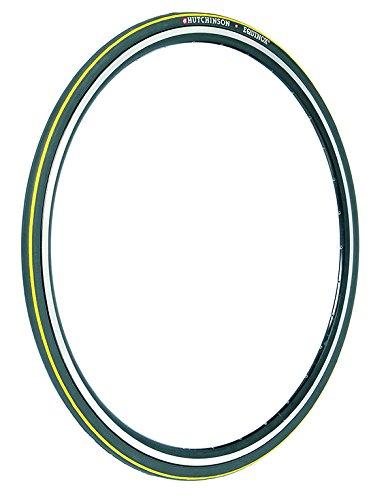 HUTCHINSON Equinox Pneu de vélo Mixte Adulte, Noir/Jaune, 700x23C (23-622)